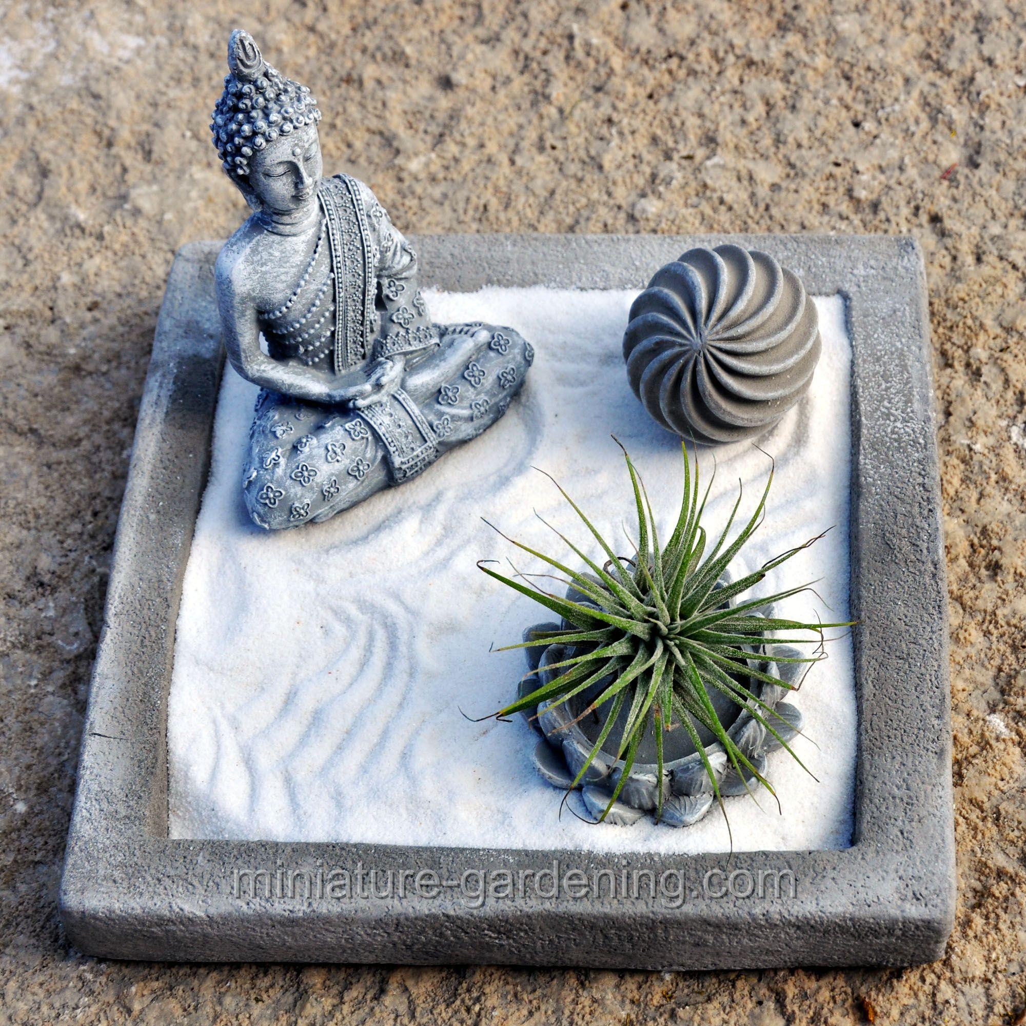 Miniature Gardening Square Cement Zen Plate 11 99 Accessories