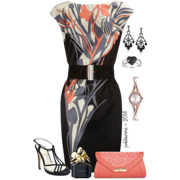 Date Night ~ #scenario by pwhiteaurora on Polyvore featuring мода, Karen Millen, Caparros, Style & Co., 1928, Miadora and Marc Jacobs