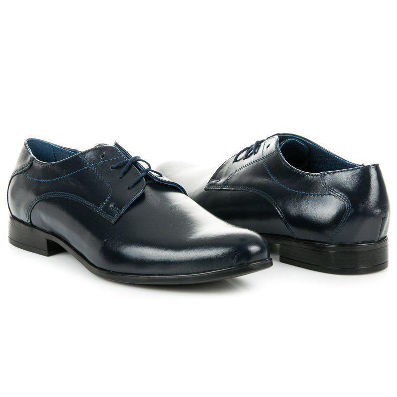 Polbuty Meskie Lucca Lucca Granatowe Biznesowe Obuwie Meskie Dress Shoes Men Dress Shoes Oxford Shoes