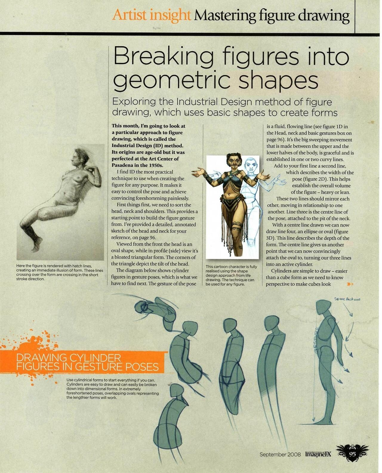 Breaking Figures Into Geometric Shapes 1 Figure Drawing