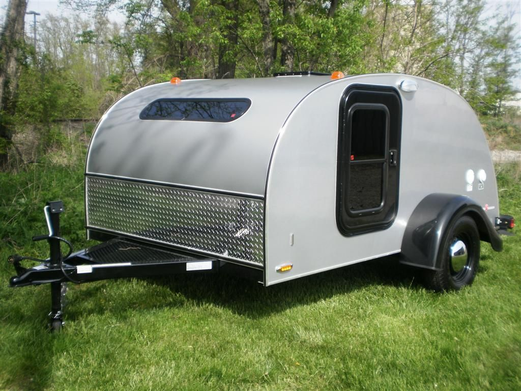 The silver shadow family is inspired by the classic teardrop trailer complete with a silver exterior and birch interior in addition to the retro appeal