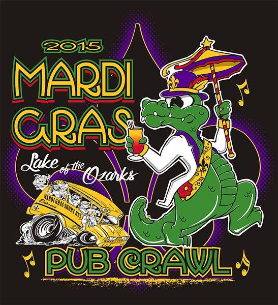 Lake of the Ozarks Mardi-Gras Pub Crawl 2015