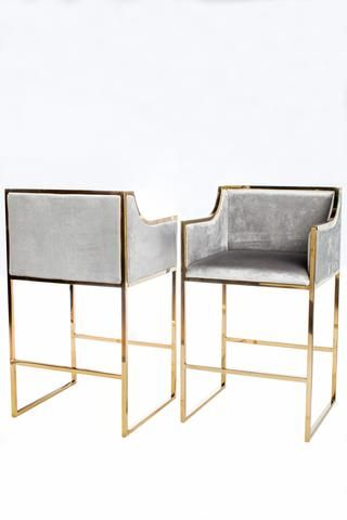 Terrific J 103 Erin Gold Bar Chair Furniture Bar Chairs Velvet Dailytribune Chair Design For Home Dailytribuneorg