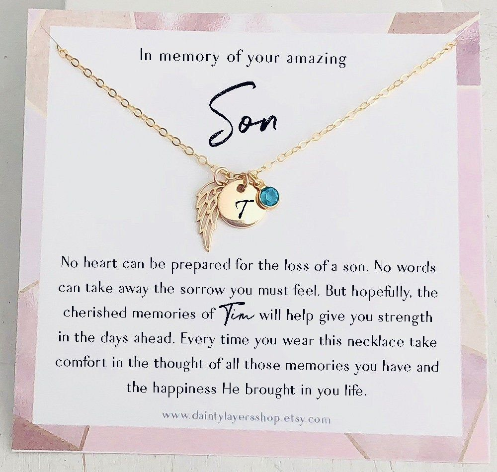 Loss of son gift in memory of son grief gift son etsy