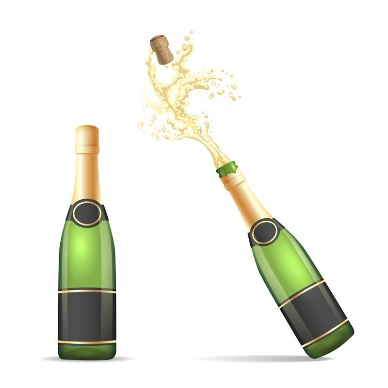 Champagne Bottle With Popping Cork By Vectortatu Thehungryjpeg Com Popping Aff Bottle Champagne Thehungryjpeg Adve Champagne Bottle Bottle Champagne
