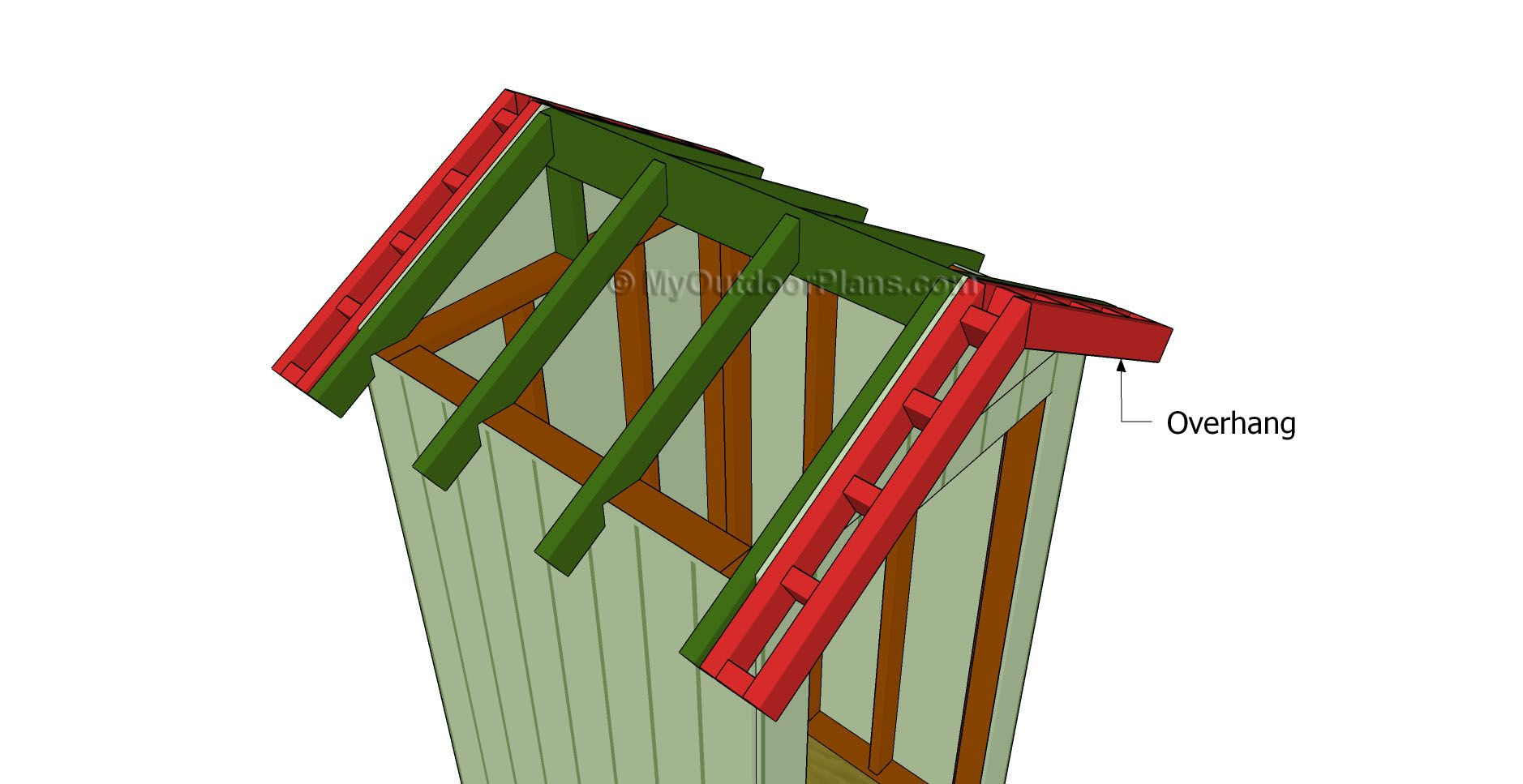 4x8 Shed Roof Plans Diy Shed Wooden Playhouse Roof Plan