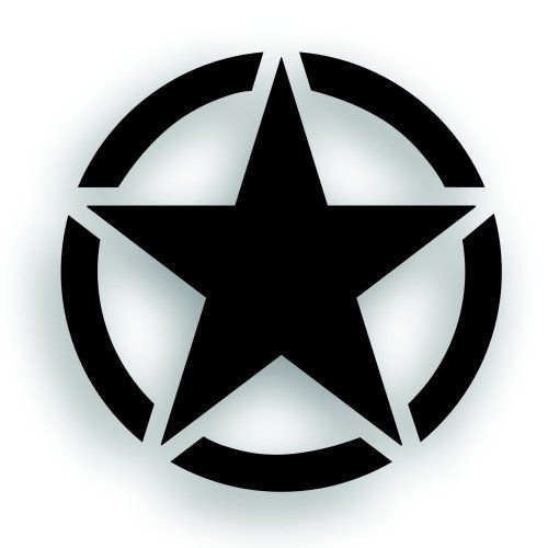 22 Military Invasion Star With Circle Decal For Jeep Wrangler