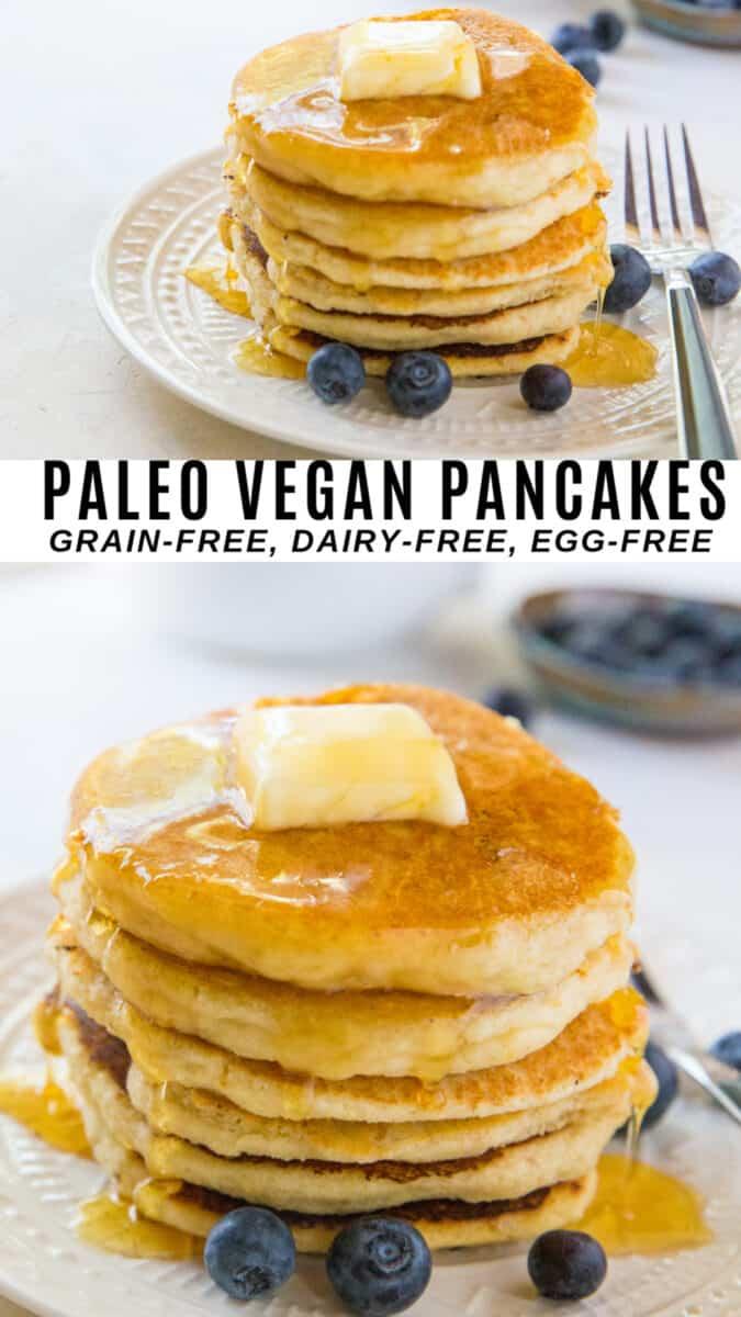 Paleo Vegan Pancakes In 2020 Vegan Pancake Recipes Vegan Paleo Vegan Pancakes