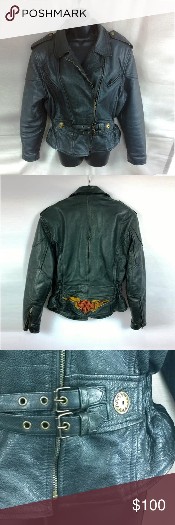 Harley Davidson Leather Motorcycle Jacket Authentic Harley