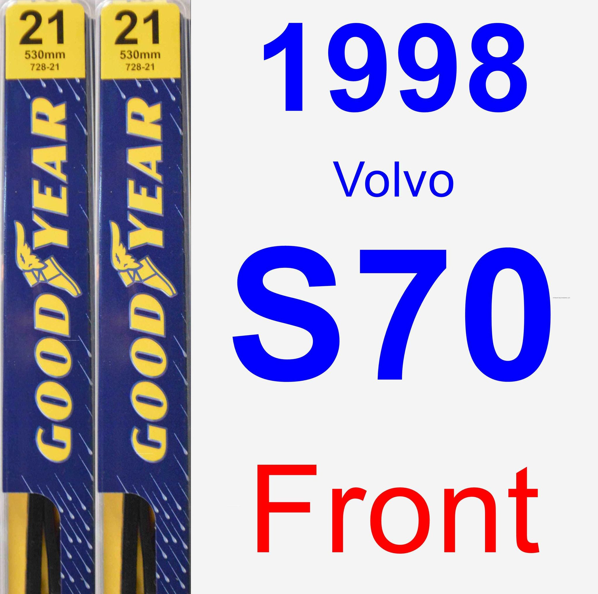 Front Wiper Blade Pack For 1998 Volvo S70