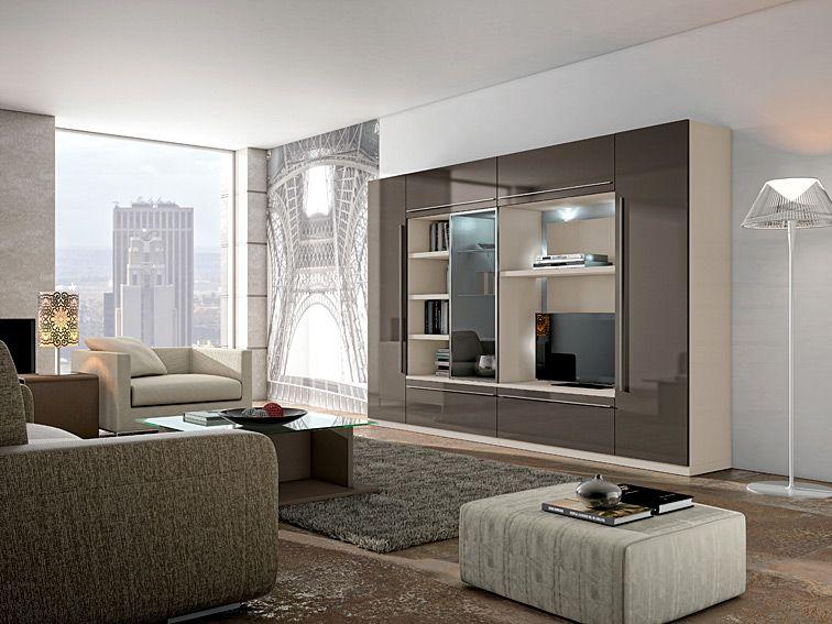 Mueble de tv moderno sanibel material dm densidad media for Groupon muebles salon