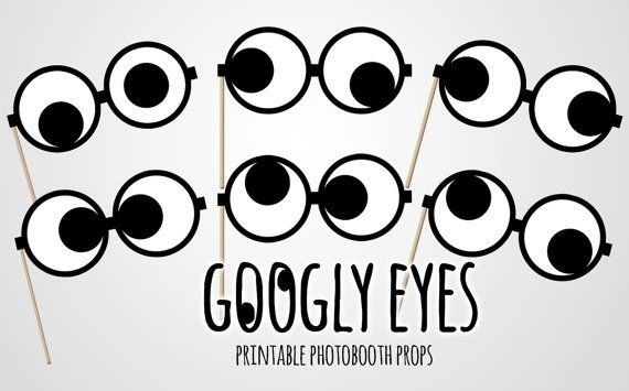 picture about Printable Googly Eyes identified as Quick Down load - Googly eyes photobooth props - Amusing