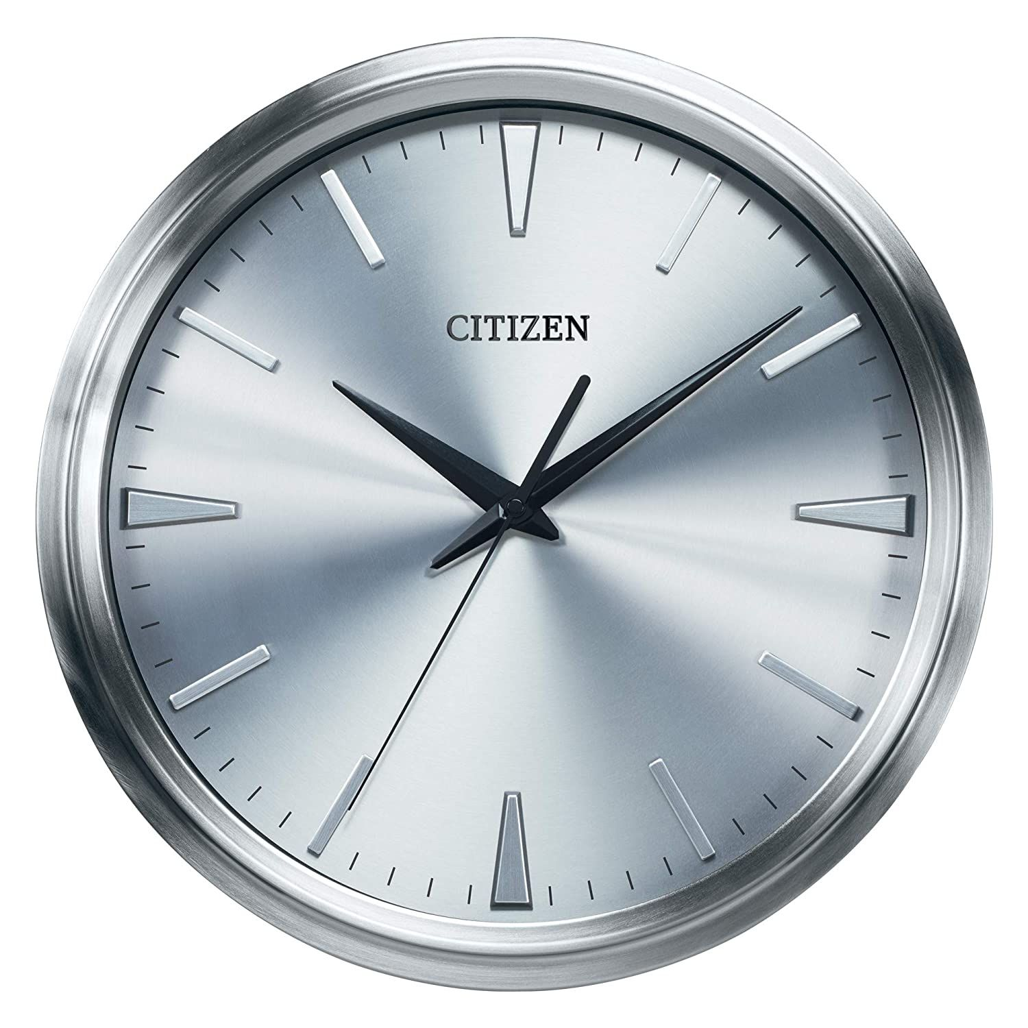 Citizen Cc2004 Gallery Wall Clock Silver Tone Click Image To Review More Details This Is An Affiliate Lin In 2020 Metal Wall Clock Gallery Wall Clock Wall Clock