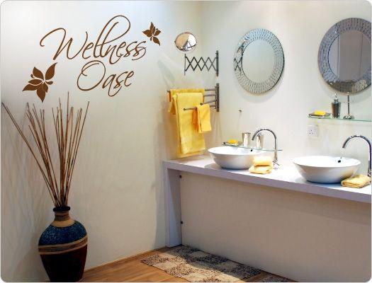 Badezimmer Wandtattoo ~ Wandtattoo wellness oase bad beauty wandaufkleber