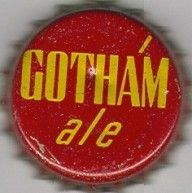 Gotham Ale, beer bottle cap | Lion Brewery of New York City, New York USA | Cap used 1934-1940 | One sold on eBay 2/2015 for $45.54.