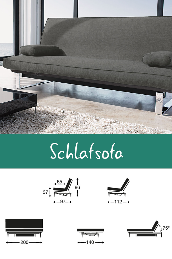 Stoff Schlafsofa In Grau Ausklappbar Schlafcouch Astoria Schlafsofa Sofa Couch