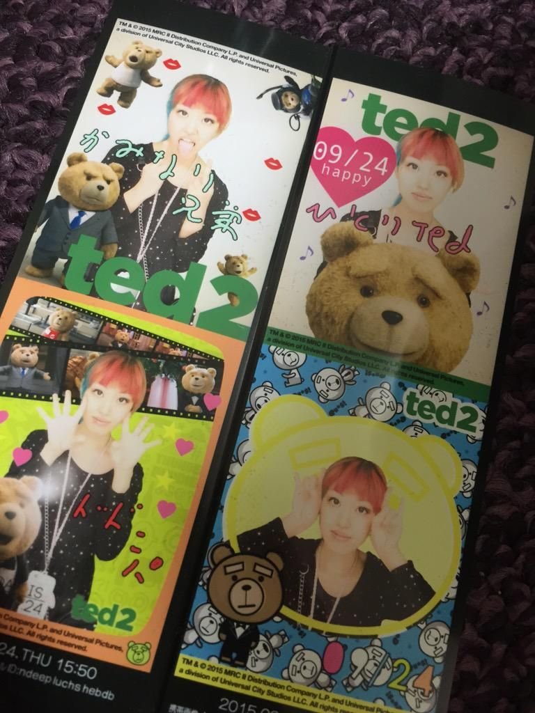 One person but it is was fun to come was § ☆ 1, which returned from ted2, but still ted is cute and ☆ 1 person photo booth and servants in song (laughs)