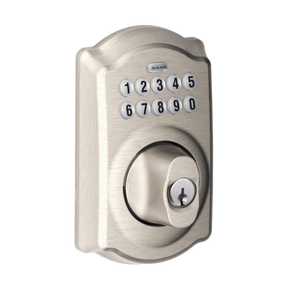 Keypad Deadbolts Available In Many Styles Finishes Keypad Deadbolt Schlage Keyless Door Lock