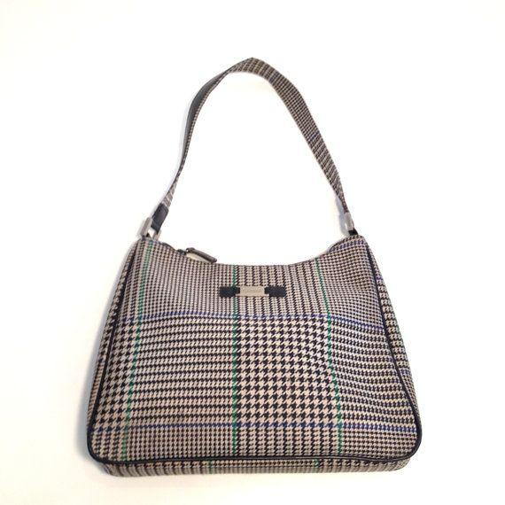 Vintage RALPH LAUREN Hounds-tooth Checkered Black   White Designer Bag    Purse   Bag   Tote 5cd9f7b1df55c