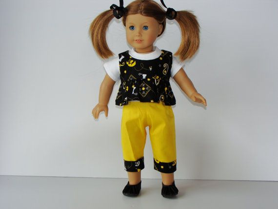 American Girl Iowa Hawkeye Capris White Ribbed by AGDollTreasures, $16.00