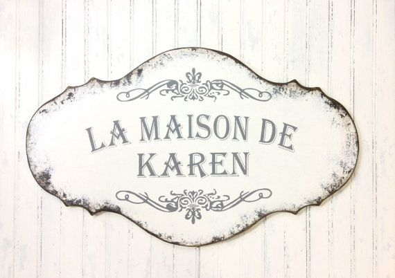 Custom French Sign Hand Painted Custom Kitchen By SignsByDiane