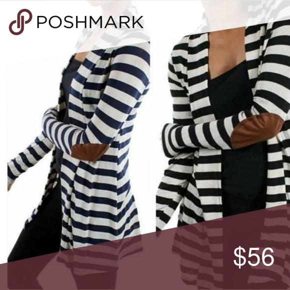 HOST PICK | Striped Cardigan W/ Elbow Patches