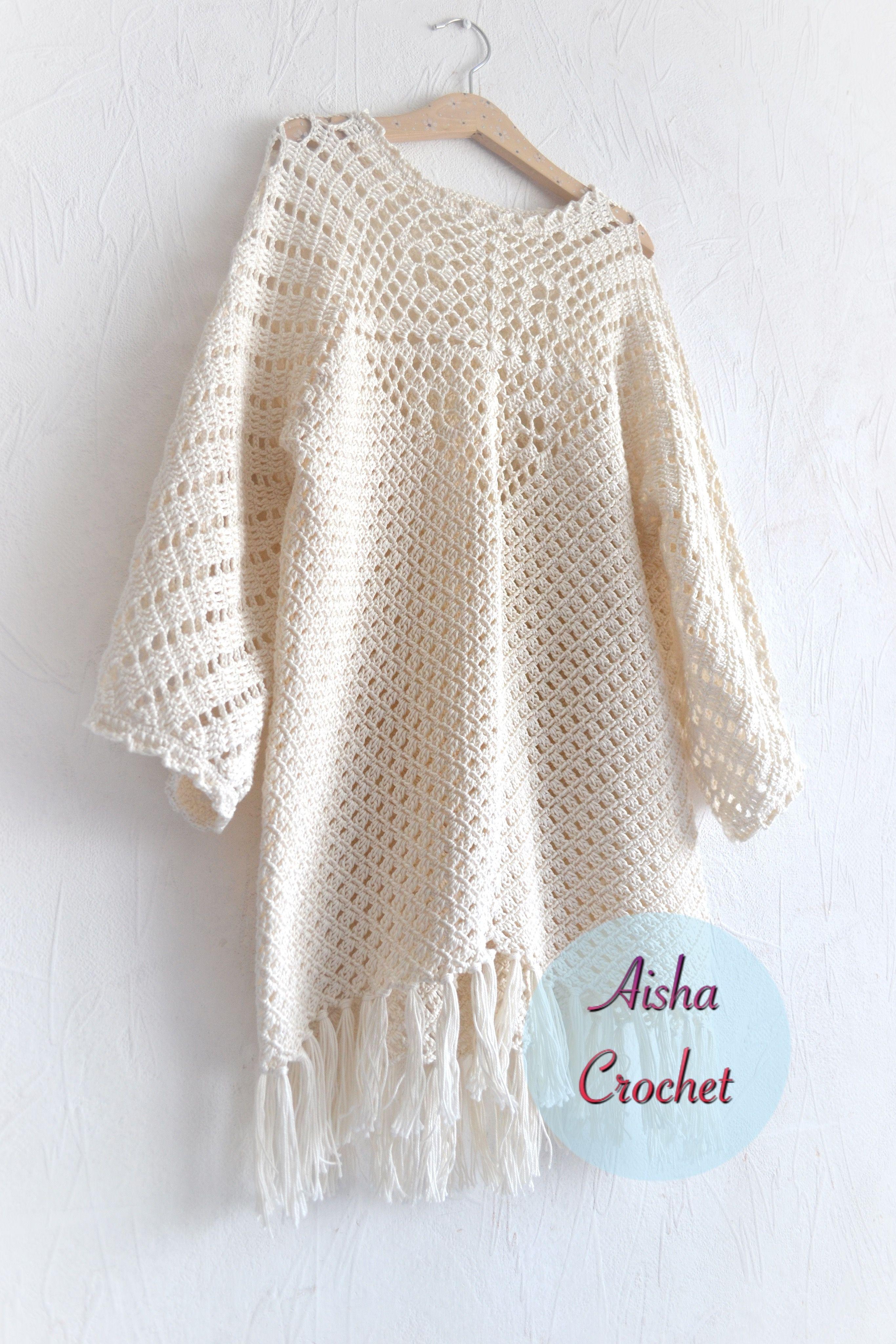 Crochet tunic by Aisha Crochet | Crochet | Pinterest | Blusas