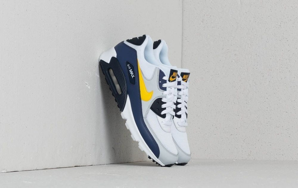 NIKE AIR MAX 90 ESSENTIAL | TOUR YELLOW BLUE WHITE | AJ1285