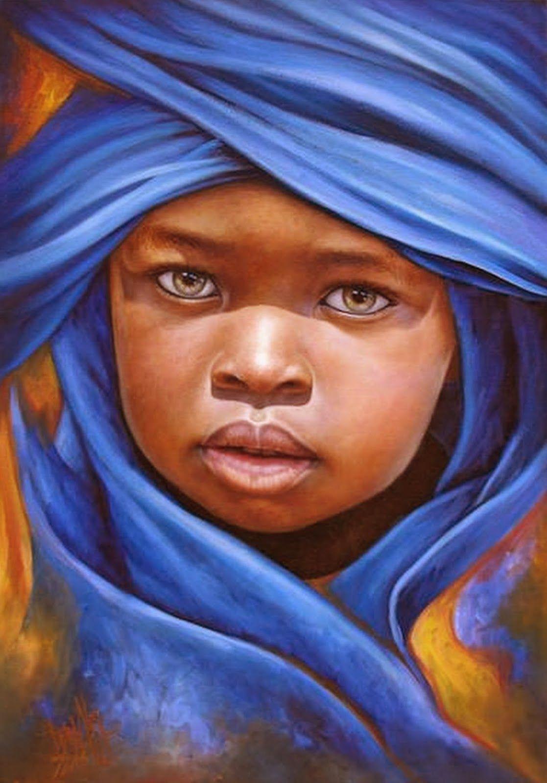 Pintura Y Fotografía Artística Rostros Africanos Al Oleo Hiperrealismo Artístico African American Art Black Art American Art