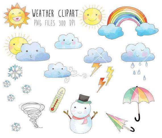 Weather Clip Art Rain Cloud Raindbow Clipart Png File 300 Dpi Clipart Abstrakte Malerei Acryl Zeichnung
