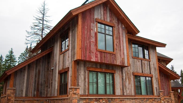 Antique Reclaimed Barnwood Barn Wood Siding Paint Facade House