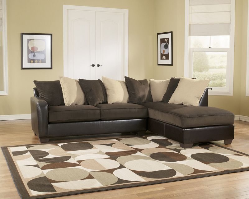 Vivanne Chocolate Living Room Sectional 2pc Set By Ashley Furniture 799 94 Sectional Sofa With Chaise Ashley Furniture Sectional Couch Furniture