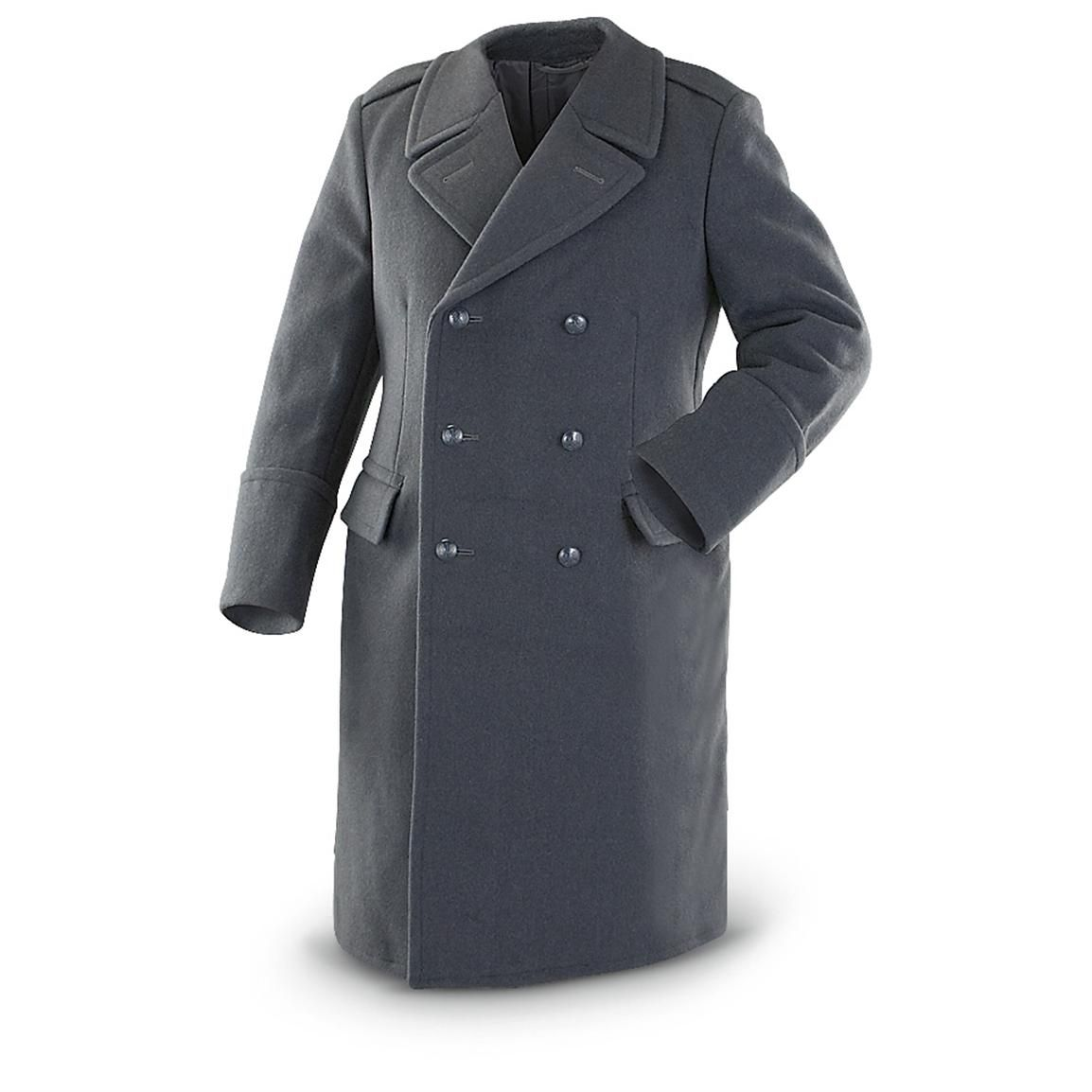 New Polish Military Wool Overcoat, Blue / Gray - Acceptable for LW ...