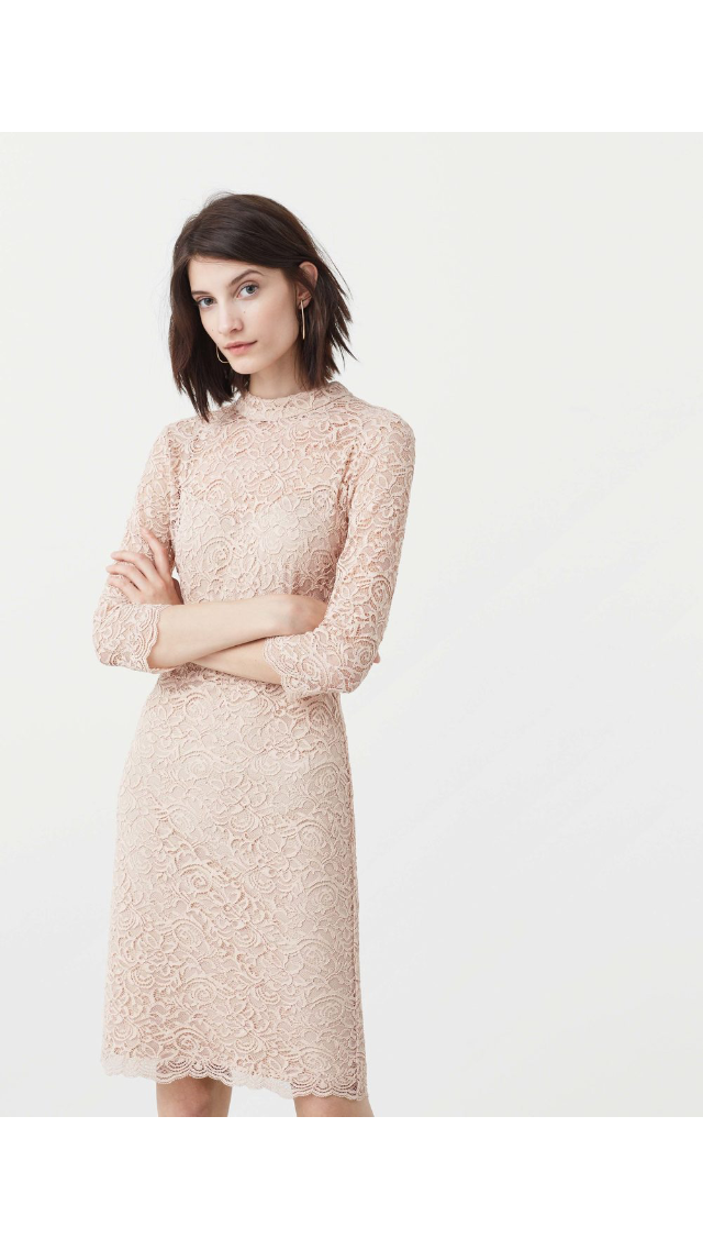 d40d75280ce4 Guipure Dress in Nude color by Mango | MINE!!!! :-P | Dresses ...