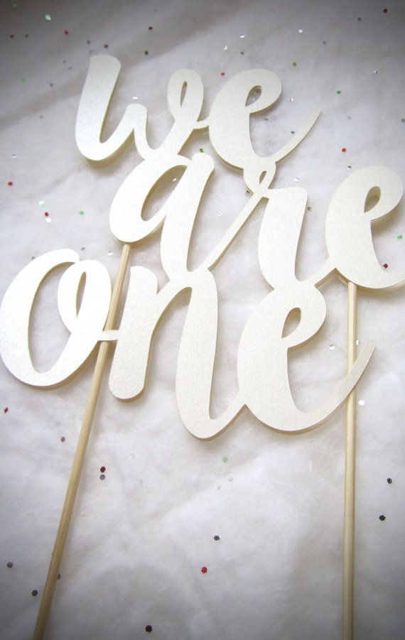 We Are One Cake Topper Twins Birthday Party Winter ONEderland