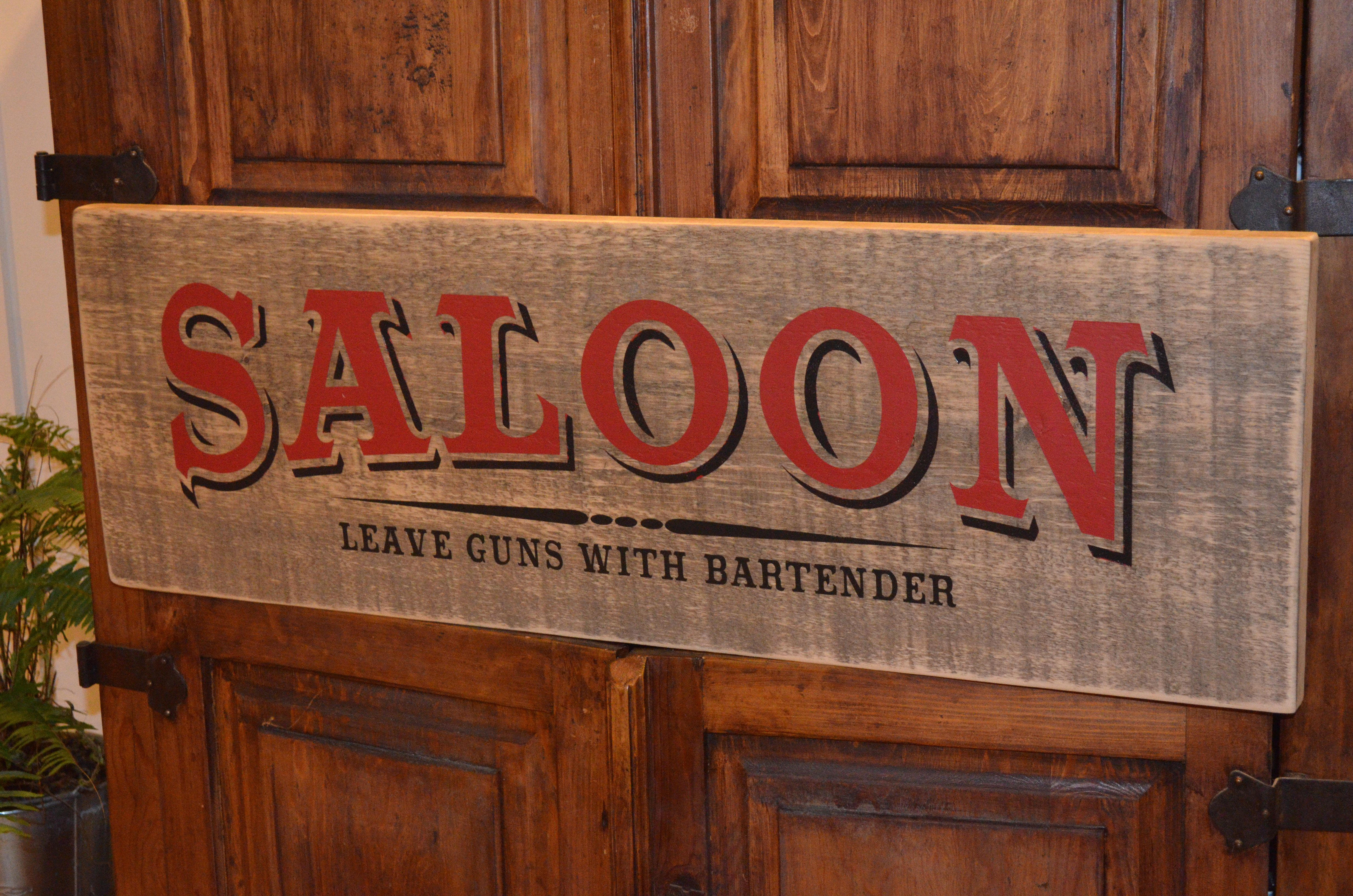 Saloon Sign Farmhouse Sign Collection Approx Size 12 Quot X