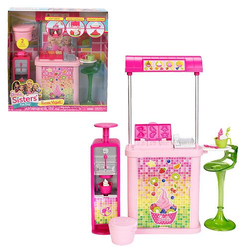 Barbie Sisters Fun Day Frozen Yogurt Shop Playset By