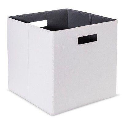 Threshold Fabric Cube Storage Bin - Assorted Colors - Sand  sc 1 st  Pinterest & Threshold Fabric Cube Storage Bin - Assorted Colors - Sand | Apt ...