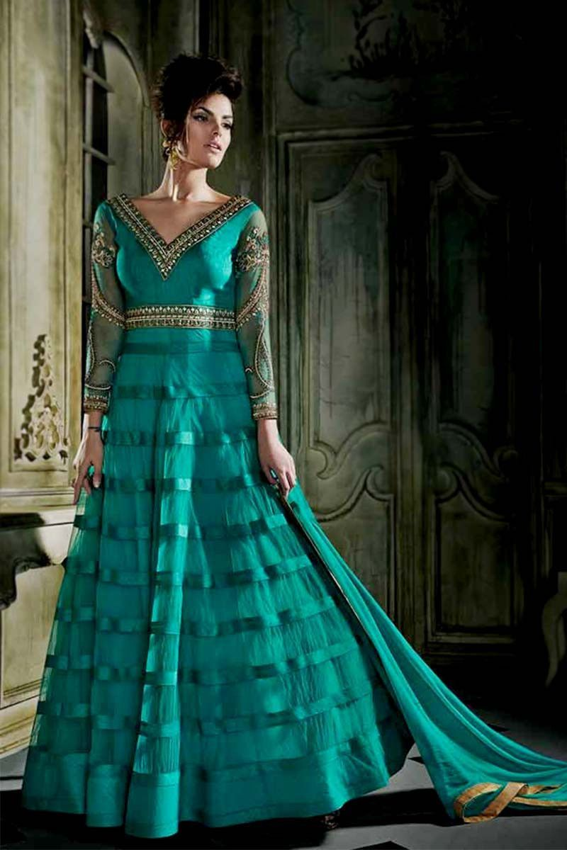 Aqua net long anarkali salwar kameez products pinterest aqua