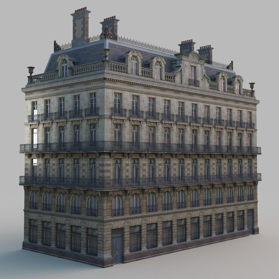 european building architectural 3d model   Apartment