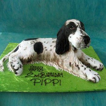 3d Spaniel Dog Cake Living Things 3d Cakes Dog Cakes Dog
