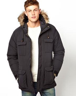 Down Parka Coat - Black Coat