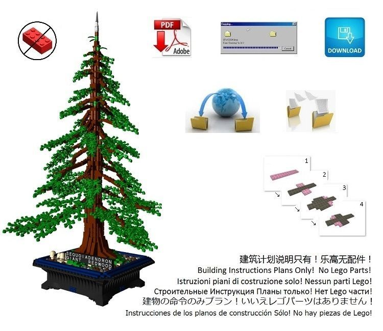Lego Bonsai American Sequoia Redwood Instructions Only From Ebay