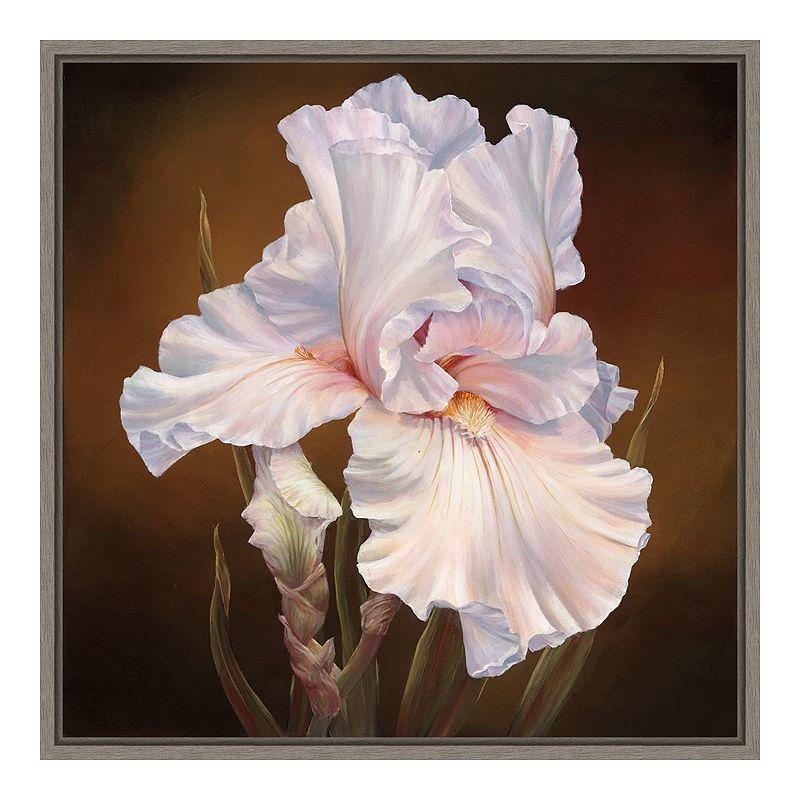 Amanti Art White Iris Ii Framed Canvas Wall Art In 2021 Framed Canvas Wall Art Canvas Frame Canvas Wall Art