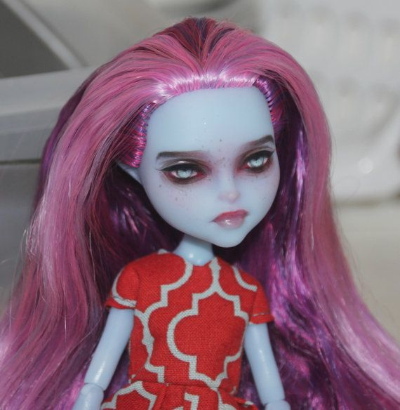 Ooak Monster High Doll Kiyomi Haunterly Repainted By Darya Space