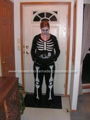 Coolest Homemade Pregnant Skeleton Costume Idea Pinterest - funny pregnant halloween costume ideas