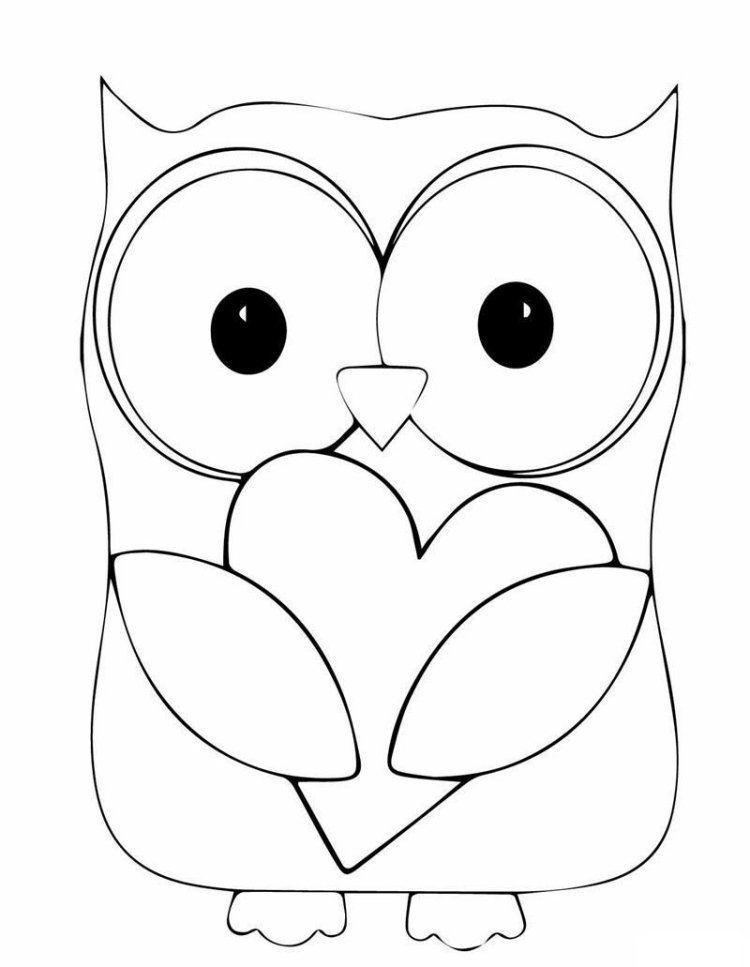 Dessin hibou imprimer et bricolage chouette pour enfants - Pochoir deco gratuit a imprimer ...