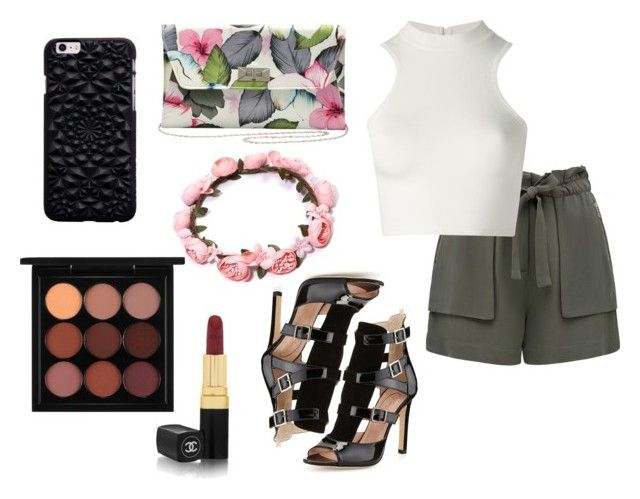 """""""#48"""" by purplegee ❤ liked on Polyvore featuring Forever New, Versace, SJP, M&Co, MAC Cosmetics and Chanel"""