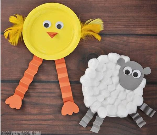 farm animal craft ideas simple yet creative ideas with paper plates useful for 4434