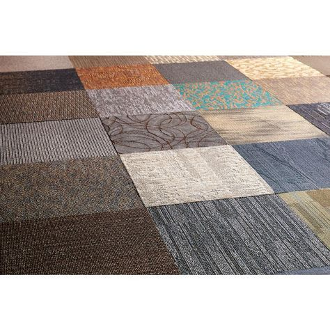 Trafficmaster Assorted Pattern Commercial Peel And Stick 24 In X 24 In Carpet Tile 10 Tiles Case Ncvt001 The Home Depot Commercial Carpet Tiles Carpet Tiles Commercial Carpet